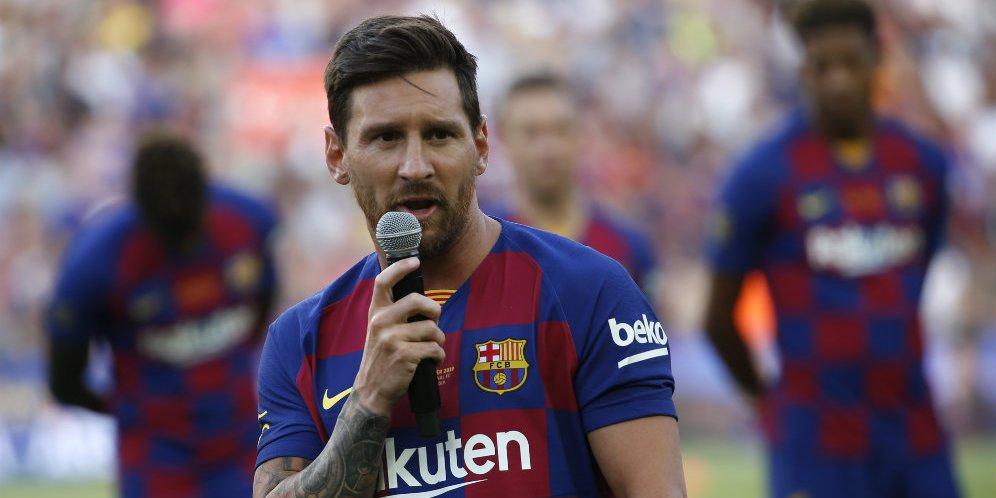 8 - Baru Latihan Lagi di Barcelona, Lionel Messi Langsung Cedera