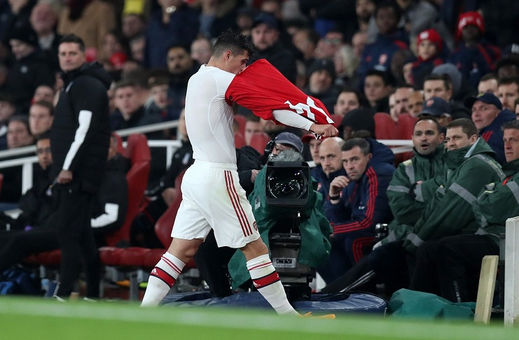 granit xhaka arsenal dicemooh fans reno Getty Images - Granit Xhaka Tantang Balik Fans Arsenal Yang Mencemoohnya di Emirates Stadium