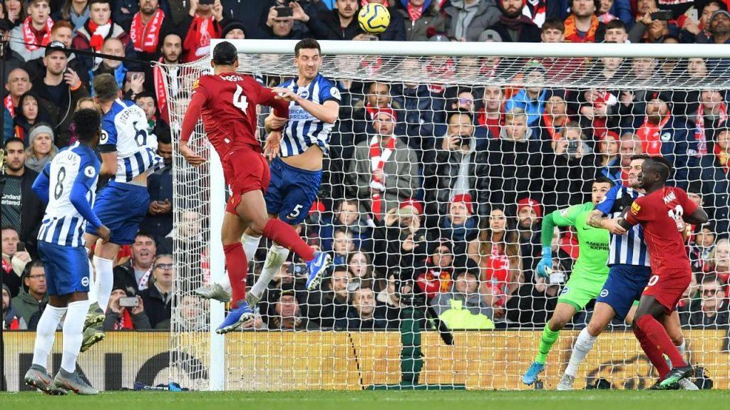 082062200 1575129388 Liverpool v Brighton   AFP Paul Ellis 1024x576 - Liverpool Atasi Brighton 2-1, Allison Diusir Wasit